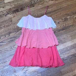 Laundry By Shelli Segal Dresses - Pink Ombré Tiered Dress